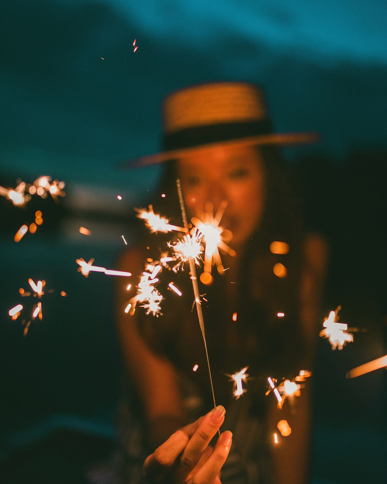 Sparks fly Bokeh Photography Bokeh Sparkle Sparklers Sparks Fire Night Photography Night Lights Light Collection Glitter Outdoors Focus On Foreground Fireworks Light