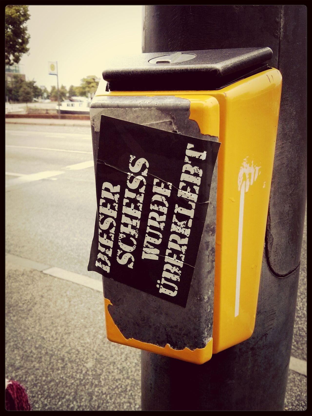 Sticker Streetart Scheiße