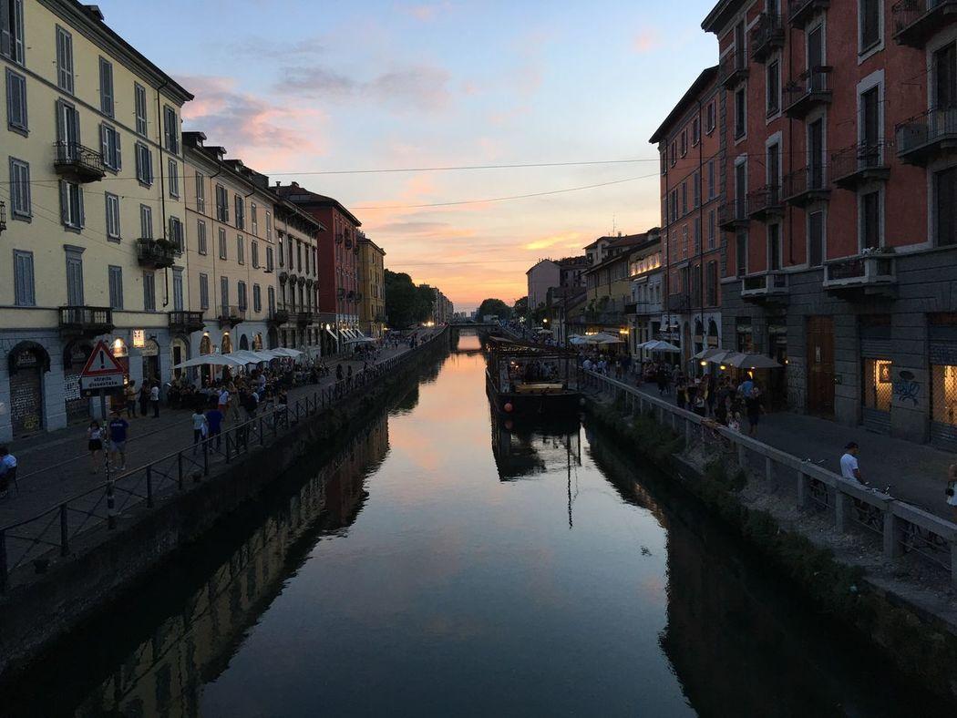 Travel Photography Sunset Navigli Milano