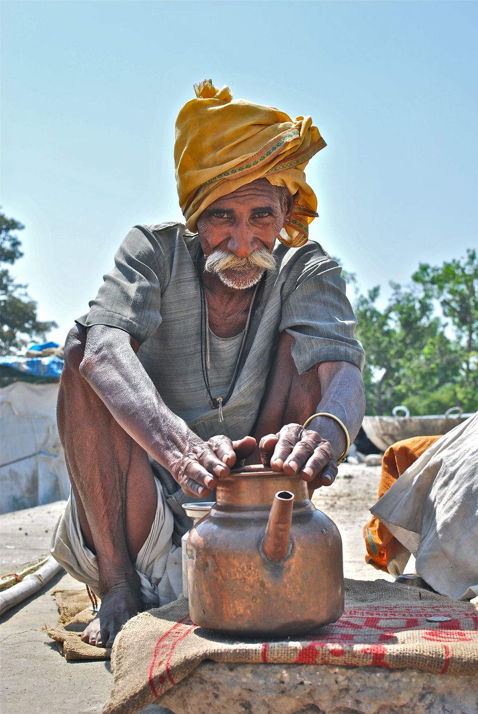 Rural life in India Senior Adult Portrait India Indianphotography Tea Time Alwar