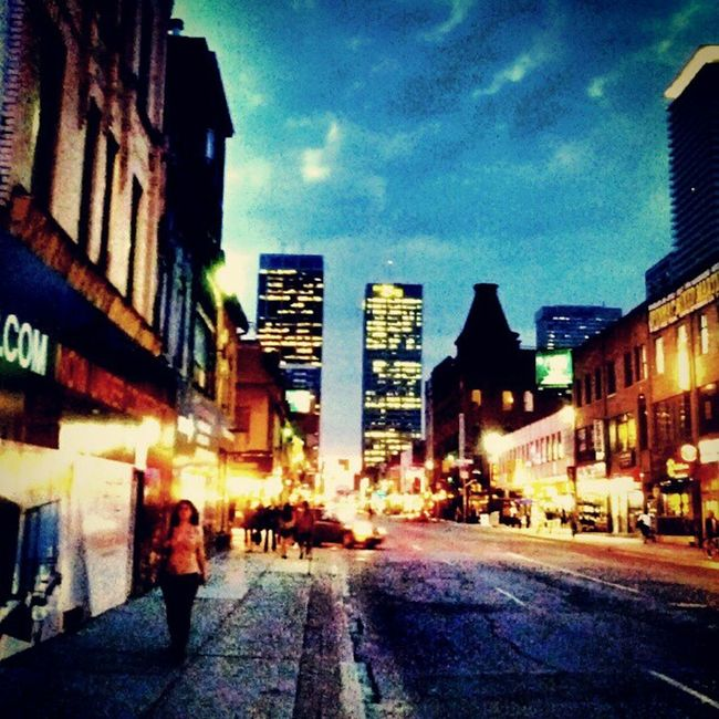 Stormy Weather! Yonge street, Toronto Just Around The Corner