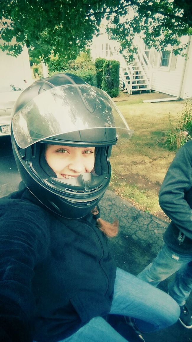 Lifestyles Leisure Activity Person Transportation Sunglasses Headshot Casual Clothing Day Outdoors Young Adult Looking At Camera Motorcycle Motor CrotchRocket Crotch Helmet Helm Mom Motorcycle_mafia Motorcy Braided Hair Braid Green Eyes Green Massachusetts