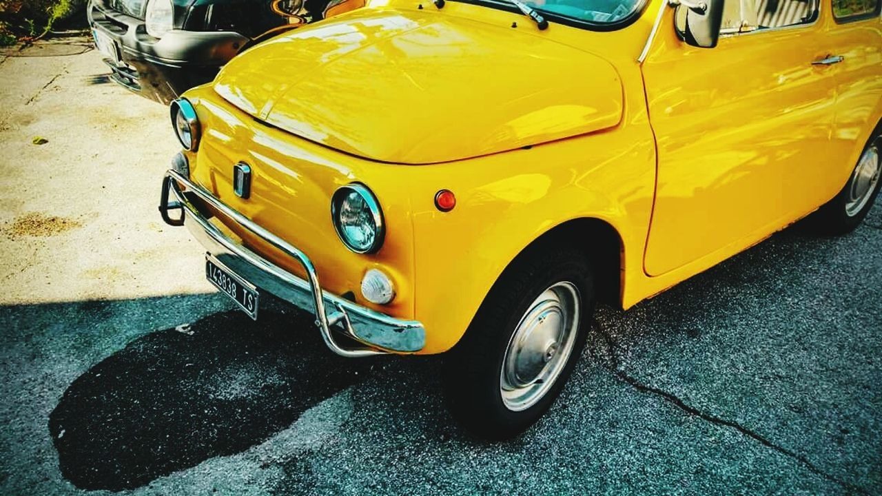 yellow, car, transportation, land vehicle, mode of transport, taxi, street, stationary, day, outdoors, yellow taxi, no people