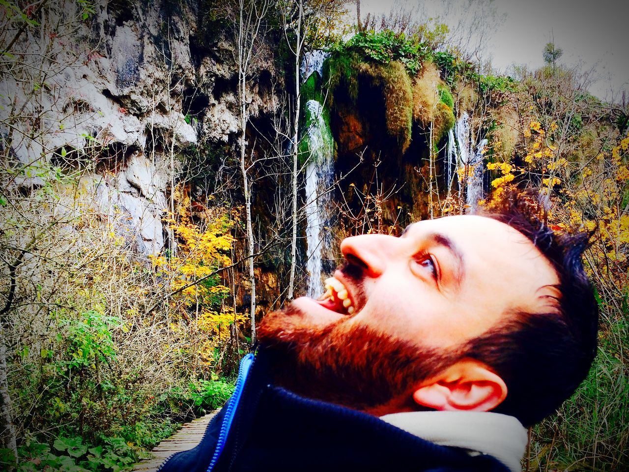 Plitvice national park One Person Beard Lifestyles Real People Headshot Leisure Activity Young Adult Day Nature Outdoors Men One Man Only Close-up Adult People Drinking Waterfall Fun Plitvice National Park Croatia Croatia ❤