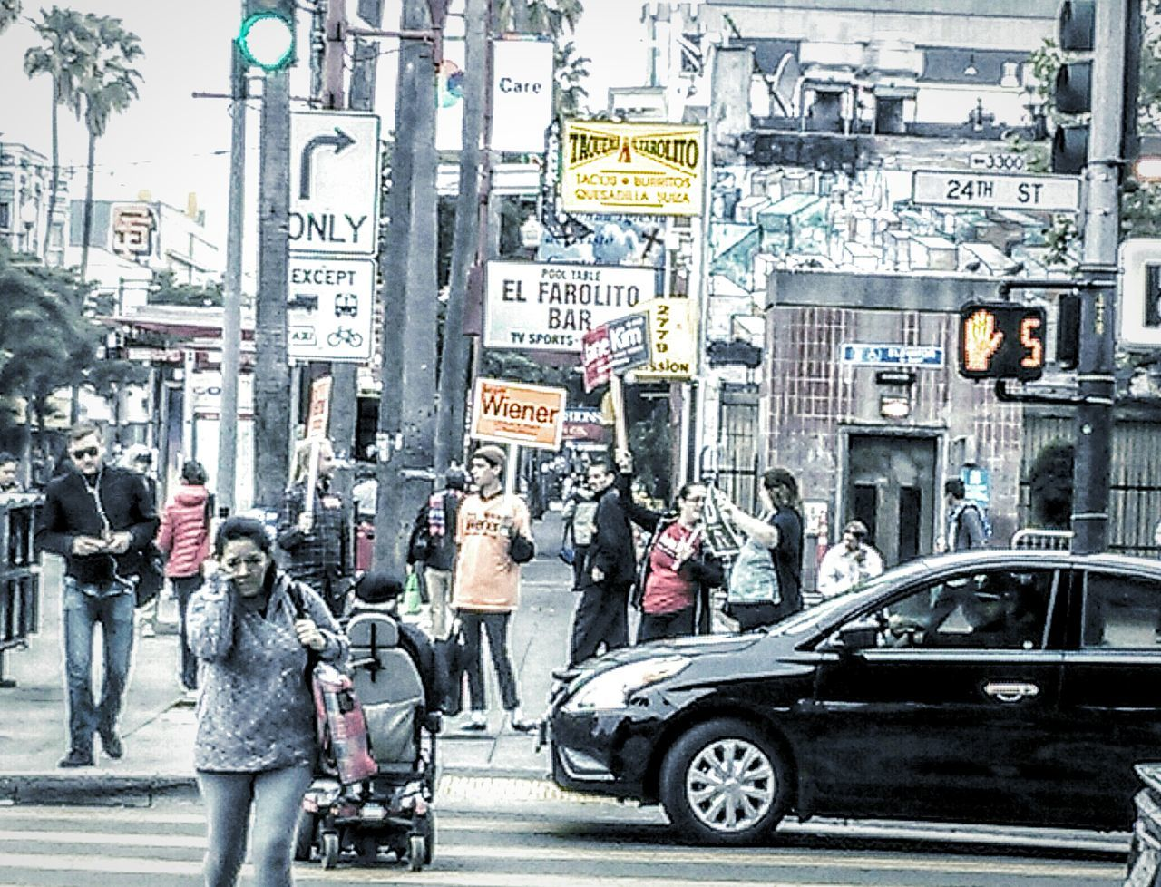 My Commute 24th Street  San Francisco Ca San Francisco CA🇺🇸 Election Day Election Campaign Campaign Volunteers Campaign Poster Primary Election Day Cross Walk Street Photography Morning Day Commute Public Transportation Bart Station Pedestrians Walking Campaign Signs Architecture Traffic Signal Traffic Lights Street Sign Pedestrian Crossing Commuters Black And White With A Splash Of Colour Black And White Street Photography
