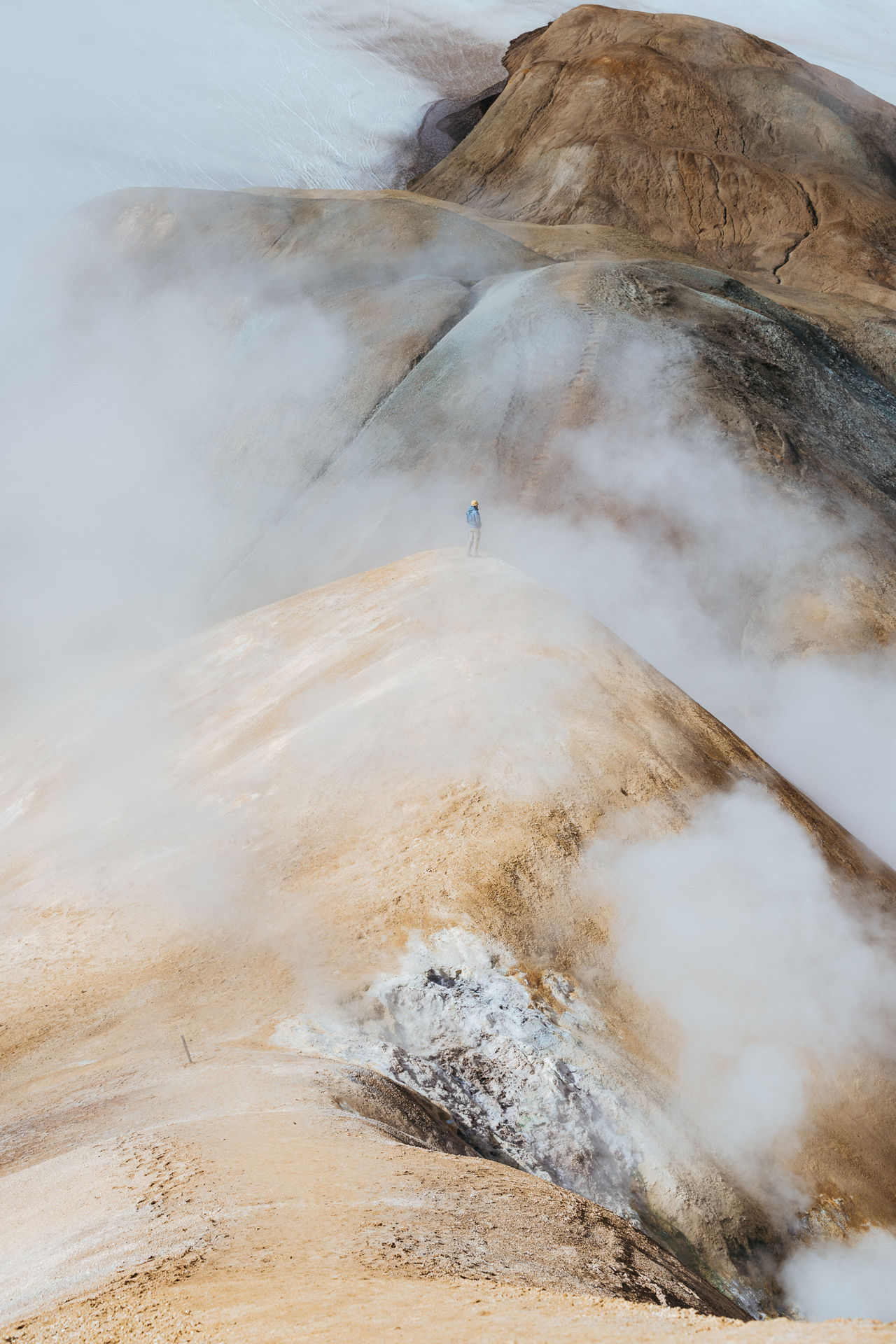 Early morning volcano hangs in Iceland Iceland Hiking Adventure Outdoors Volcano Hot Springs Kerlingafjöll Mountains