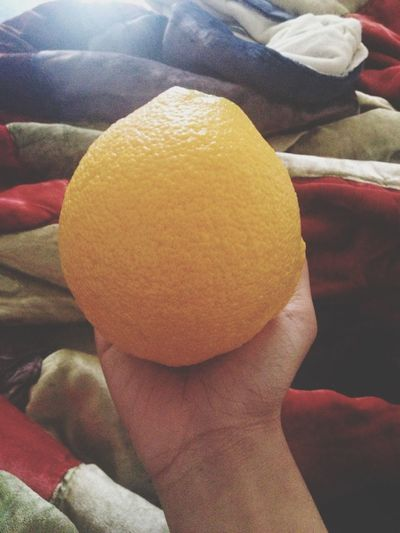An giant orange helped me today..