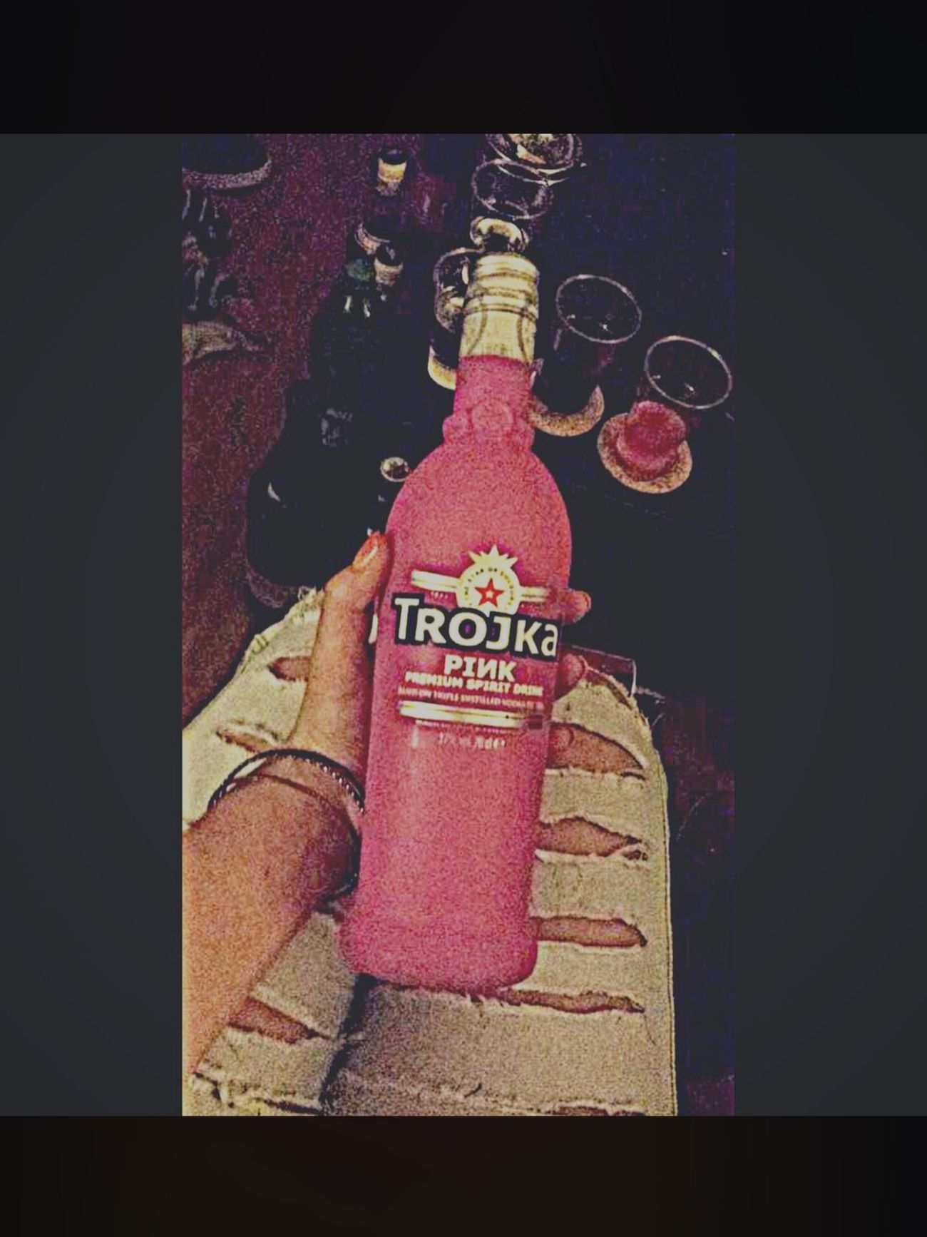Troika pink 💖 Love Drink Drank Drunk Emo 💖 First Eyeem Photo