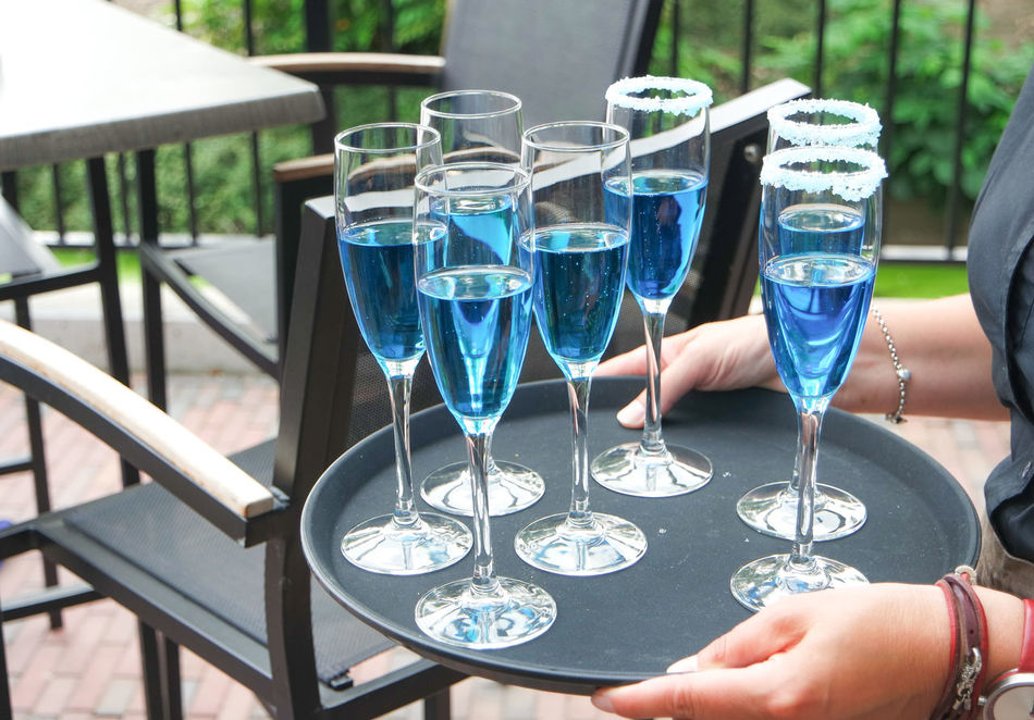 Blue Blue Cocktail Champagne Glasses Close-up Cold Drink Cheers Hangout Celebrate Celebration Sparkling Wine Alcohol Wedding Engaged Beverages Party Time Glasses Party Drink Coloured Drinks Cold Drinks Bright Drinks Adult Transparent Cooling  Liquid Lounging