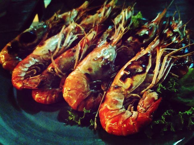Bangkok Thai Food Grilled Prawns Lg G Pro 2