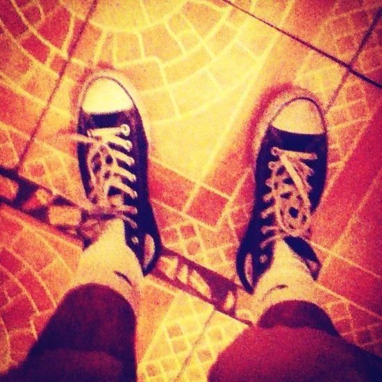 Old Chucks And Some Nike Socks :)