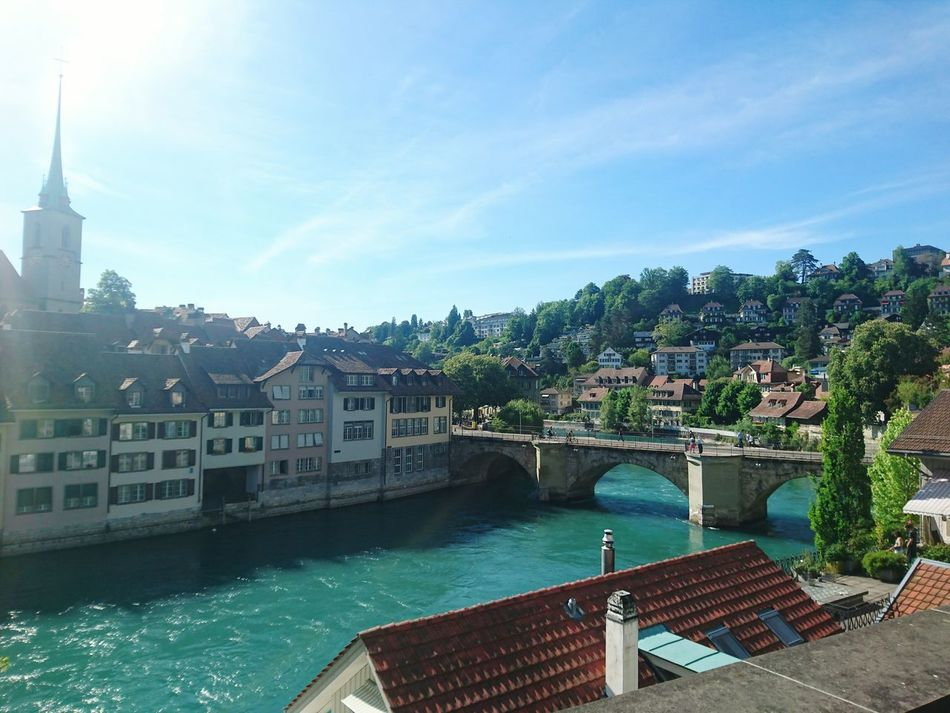 Water Architecture Outdoors Travel Destinations HJB Bern, Switzerland Capitolcity Bridge Over The River City Day