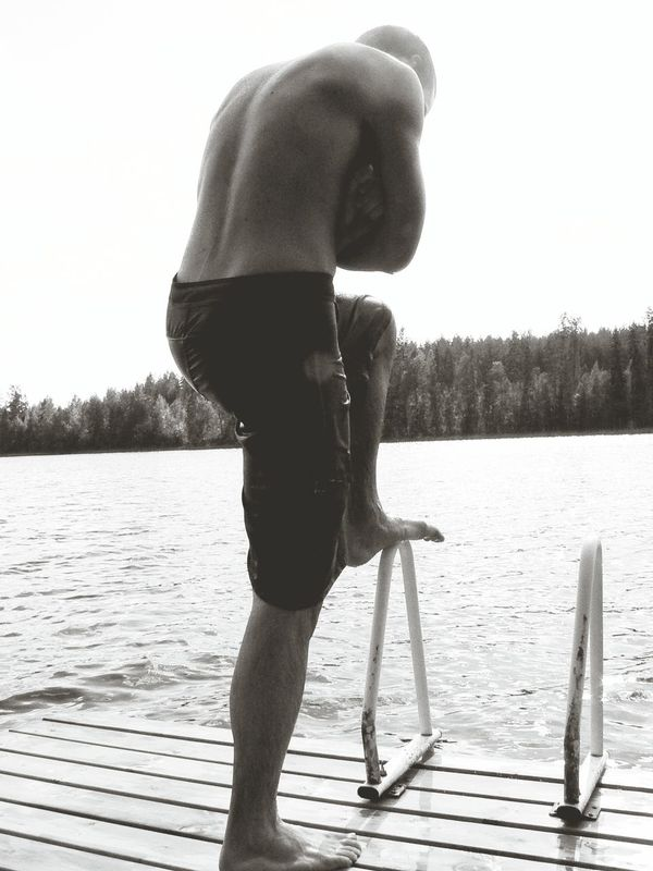 The thinker - an older picture of a long lost friend. What's On Your Mind? Summertime Pond Swimming Spending Time Memory Lane