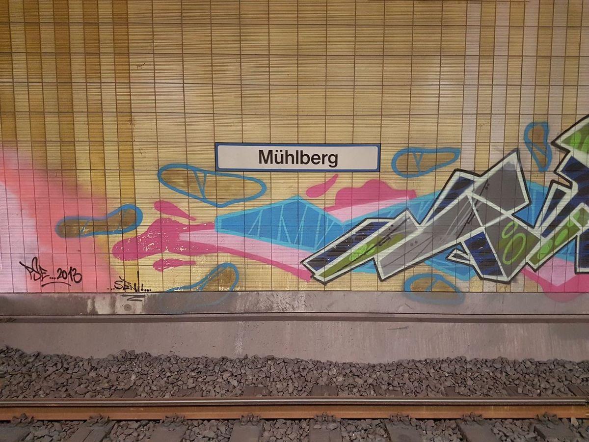 ...now towards Airport (via S8). S Bahn Mühlberg Frankfurt