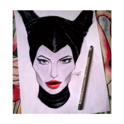 Sketch Drawing Maleficent Angelinajoulie