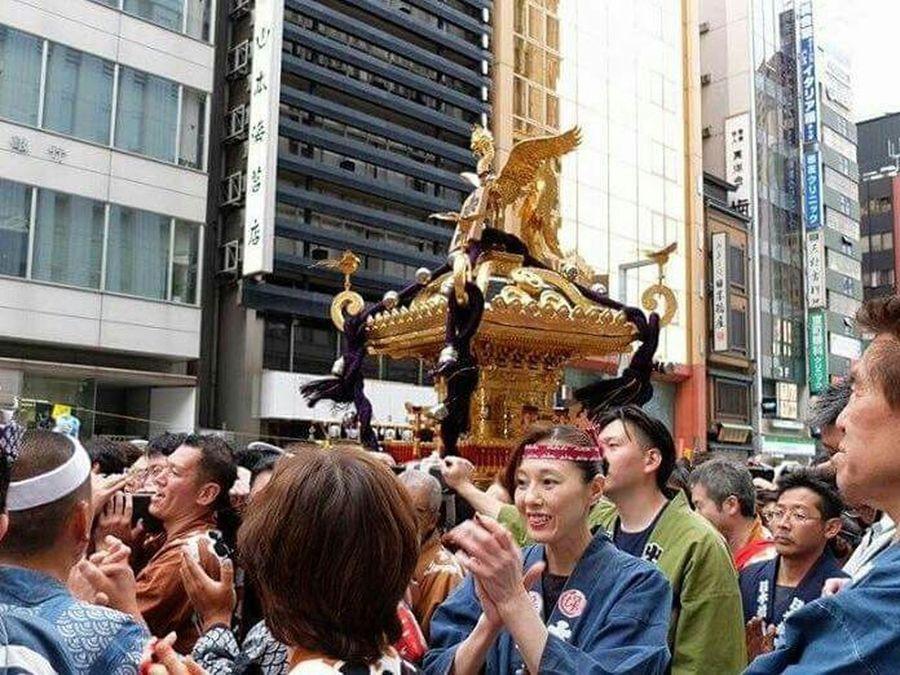 日本橋 On The Road 祭り Traditional Tokyo,Japan Streetphotography Happy People Human Japanese  Beautiful
