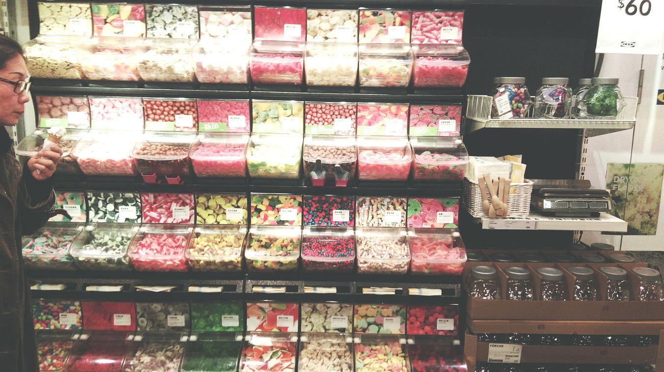 IKEA Sweets Candy Corlorful Window Shopping ?????