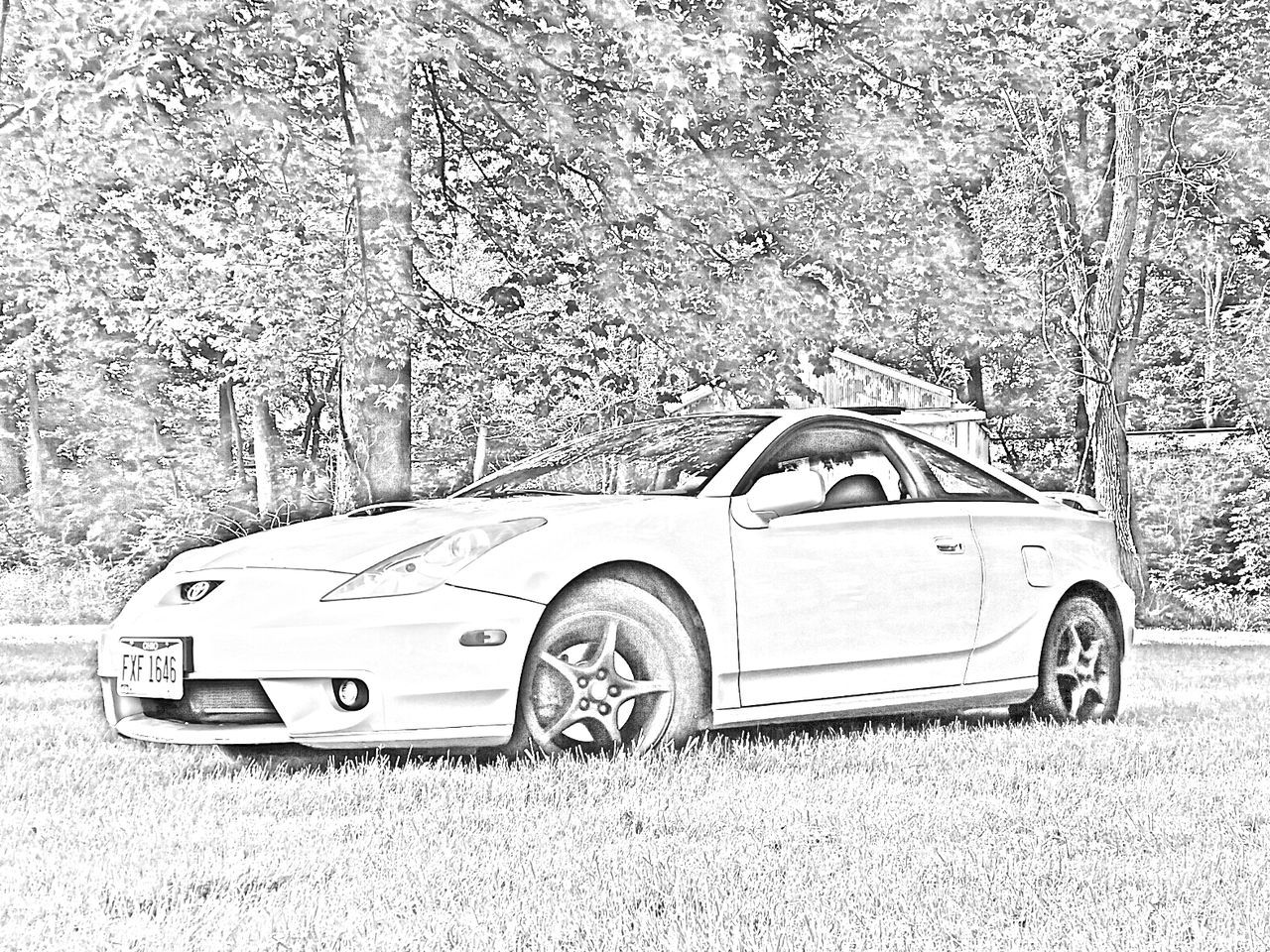 Toyota Celica GT-S in Quicksketch for Display Car Art