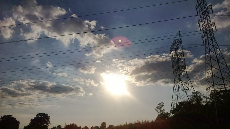 Beauty In Nature Cable Cloud - Sky Connection Day Electricity  Electricity Pylon Fuel And Power Generation Low Angle View Nature No People Outdoors Power Line  Power Supply Silhouette Sky Sun Sunset Technology Telephone Line Tree