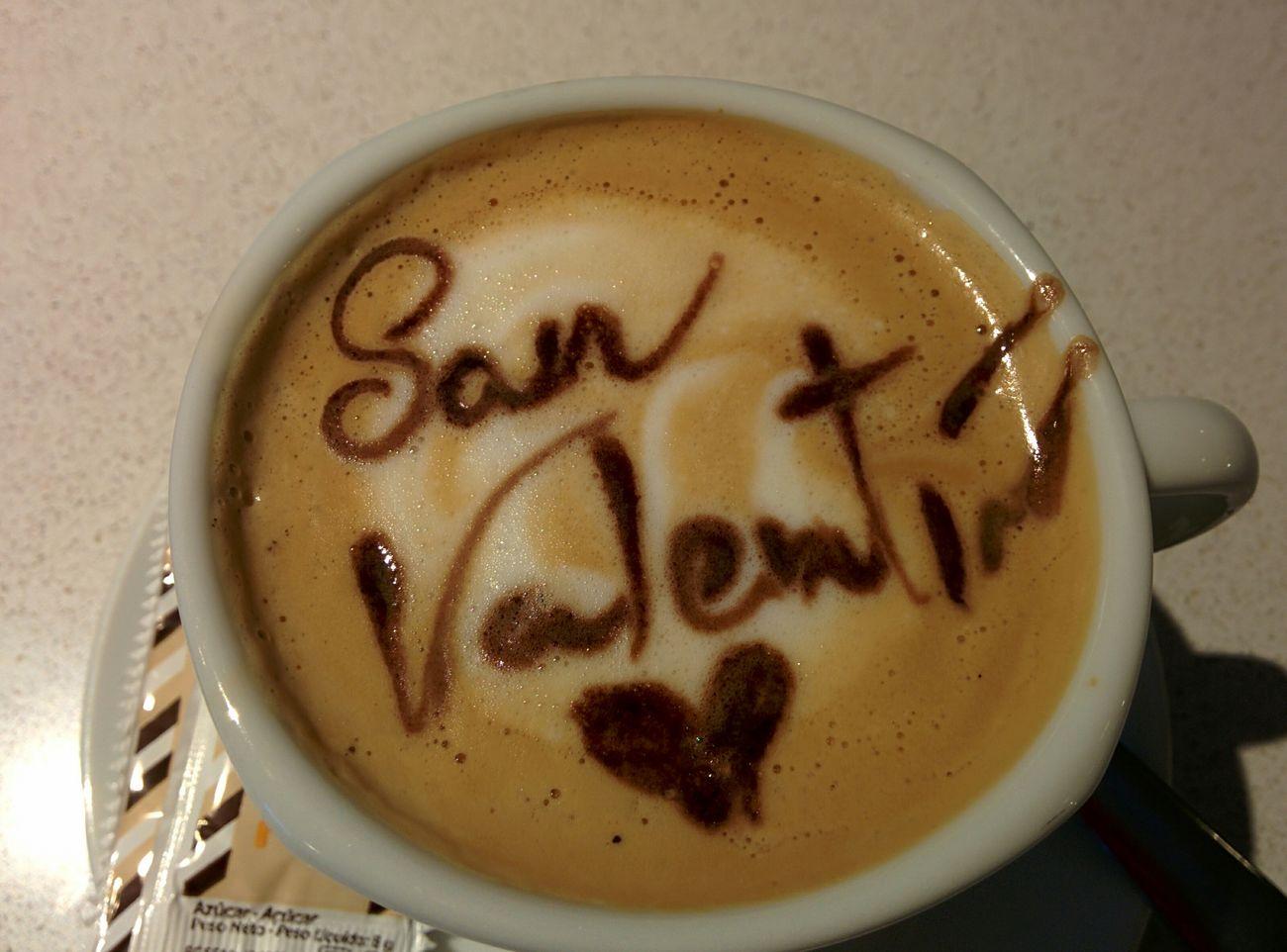 Cafe Media Mañana Espuma  San Valentin