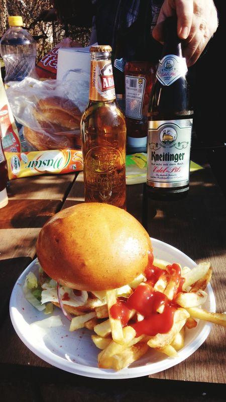 MyPerfectDay Hamburger Ketchup Tomato Ketchup Beergarden  Enjoying This Moment