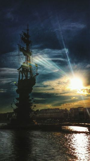 Russian Empire Emperor Peter The Great Monument Moscow Moscowriver Navy Sunset Sunshine