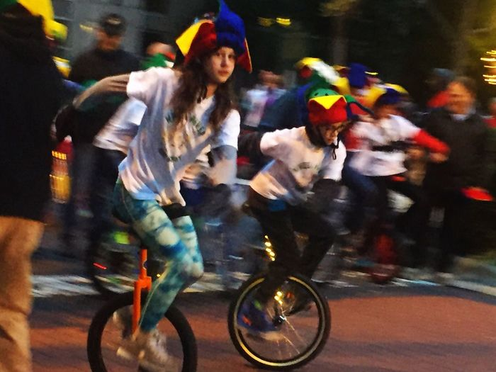 Blurred Motion Street Cycling Transportation Motion Bicycle Large Group Of People Speed Wheelpower Unicycle Real People Traffic Land Vehicle Night Outdoors City Rush Hour Men People Sports Race Adult
