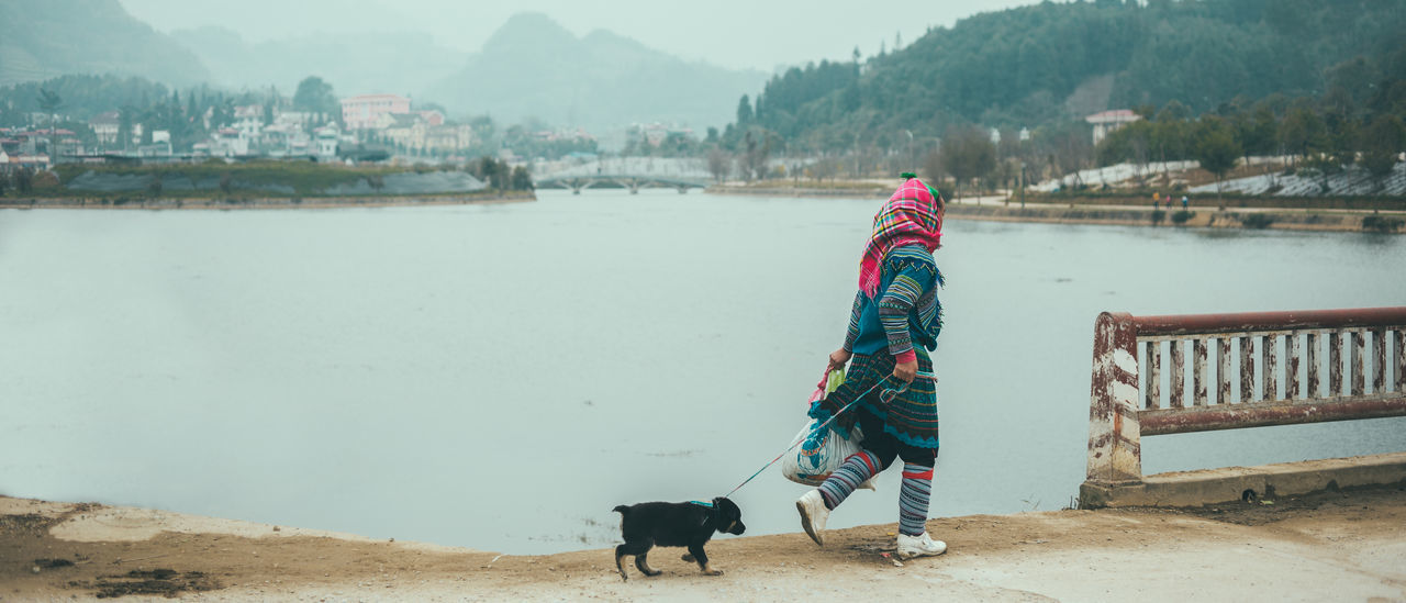 ASIA Bac Ha Cute Dog Landscape Local Woman Mountain Outdoors Puppy Street Photography Streetphotography Travel Travel Destinations Travel Photography Traveling Vietnam View Wanderlust Woman On The Way On The Way Home