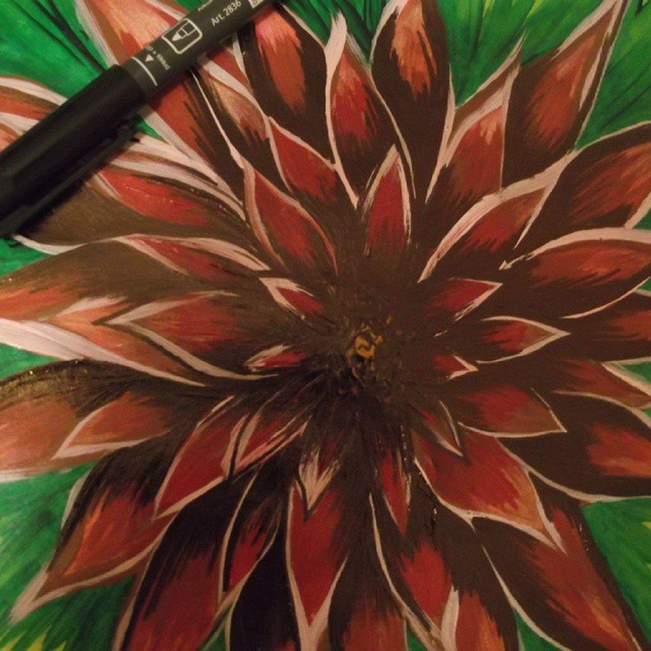 рисую рисунок цветокжизни арт  акрил Art Drawing