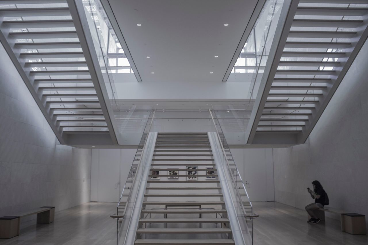 Indoors  Steps Staircase Steps And Staircases Illuminated Architecture Dallasmuseumofart Dma  Museum Of Art Modern Leisure Activity Interior Design Interior Architecture Museum Architecture