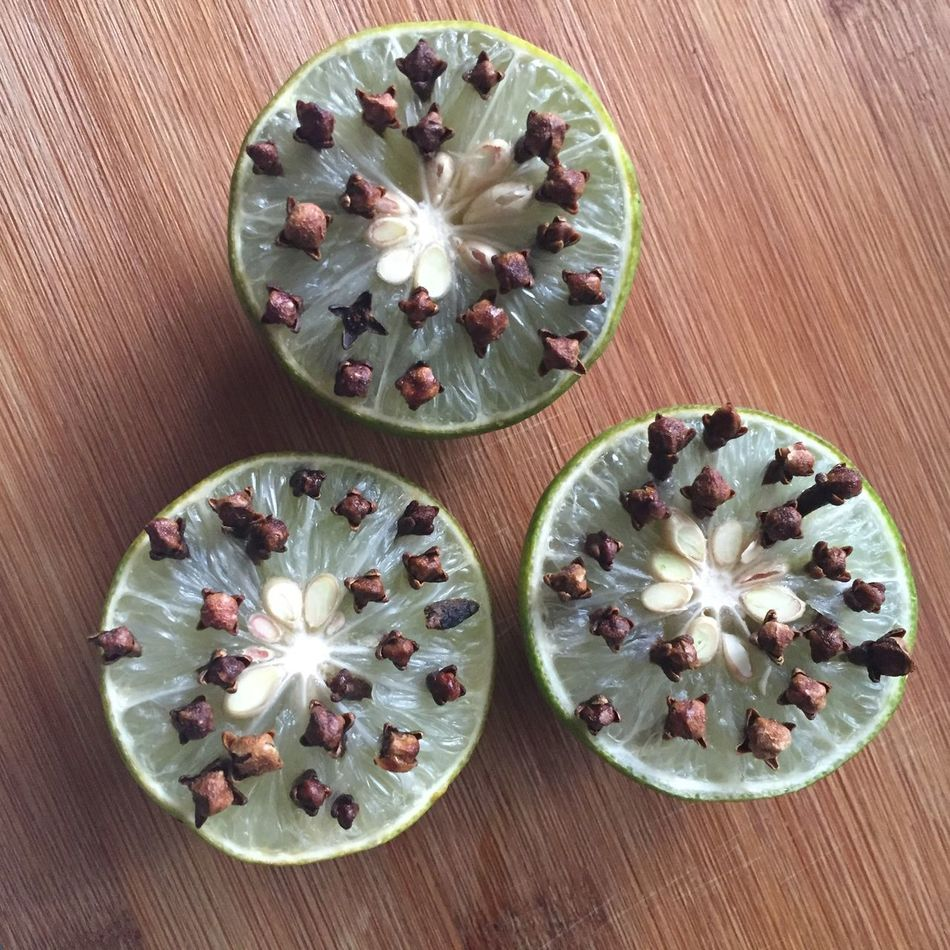Limes & cloves High Angle View Directly Above No People Indoors  Table Food Day Mosquito Repellant Lime Green Natural Au Naturale Spices Wood