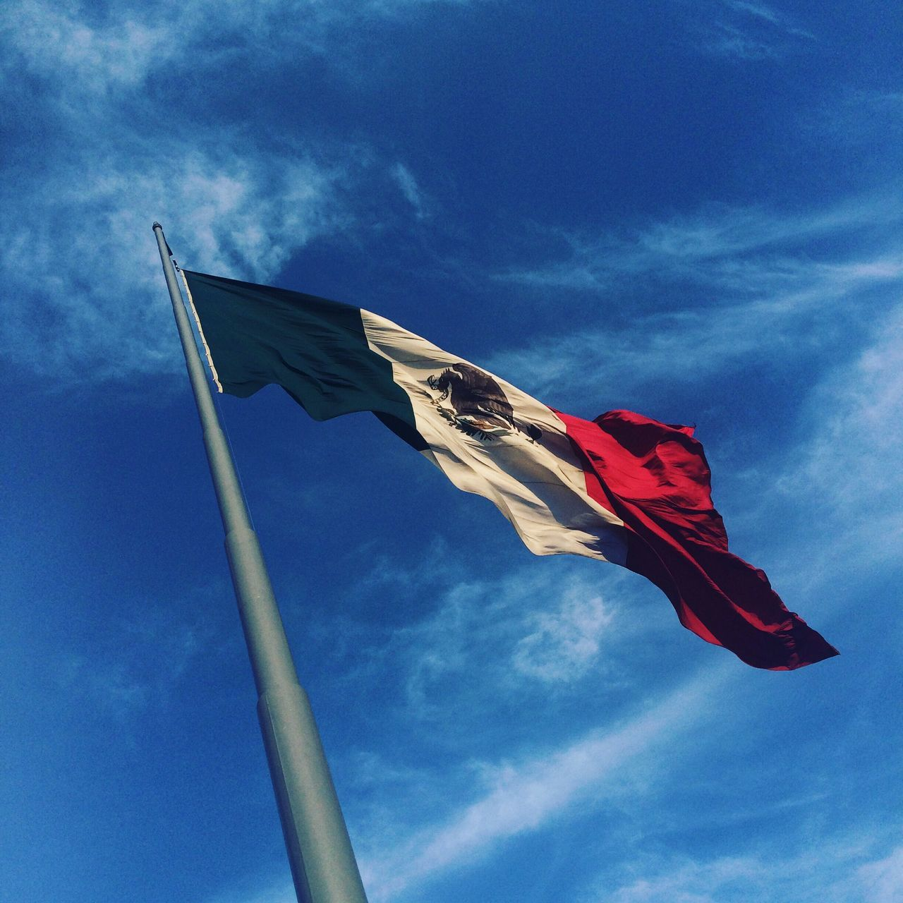 Beautiful stock photos of mexican flag, Day, Flag, Identity, Low Angle View