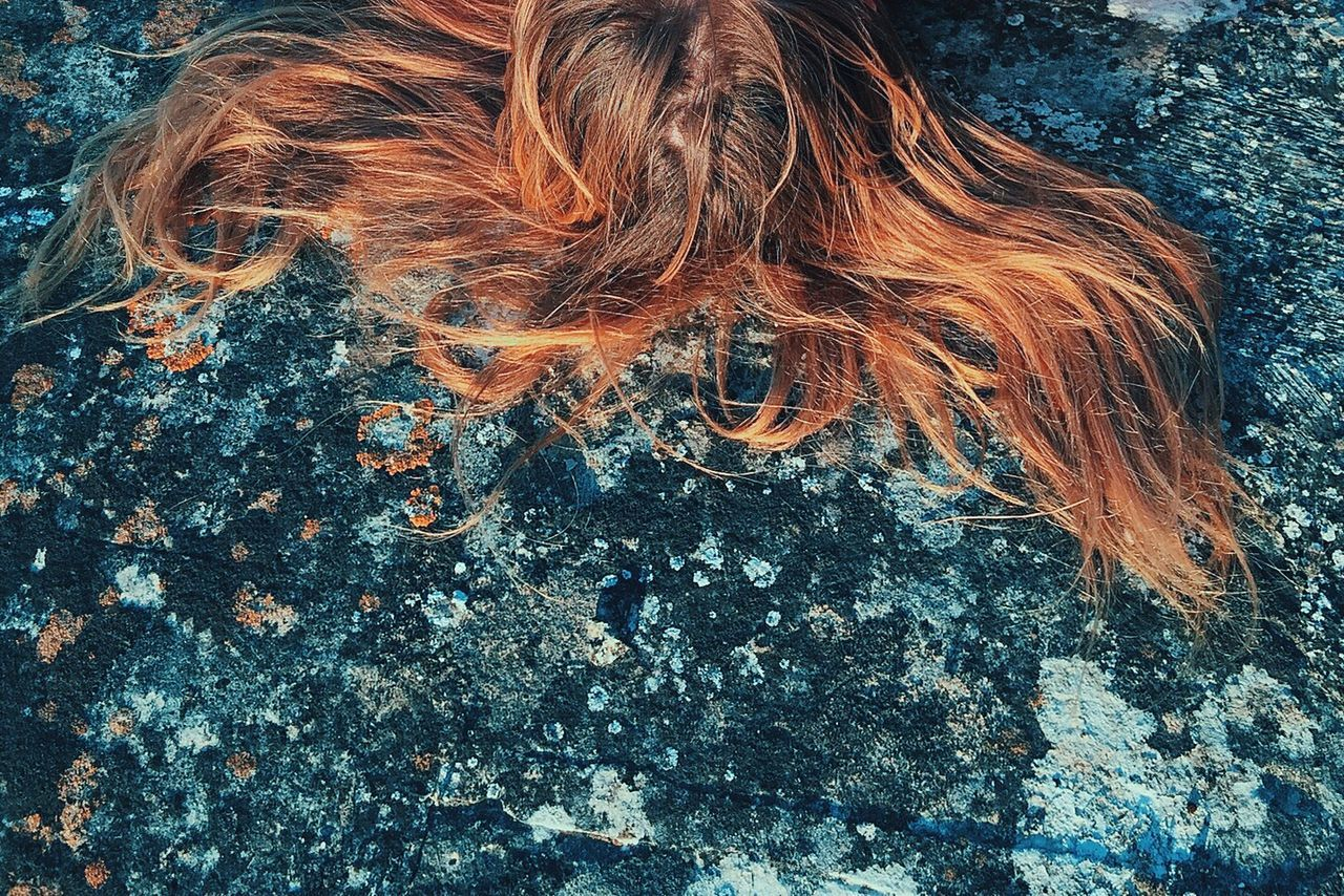 Vscocam VSCO IPhoneography Eye4photography  Girl Redhead Hair IPhone Abstract Photography Picturing Individuality Blue Wave Let Your Hair Down Fine Art Photography EyeEm x Schwarzkopf - Let Your Hair Down BYOPaper!