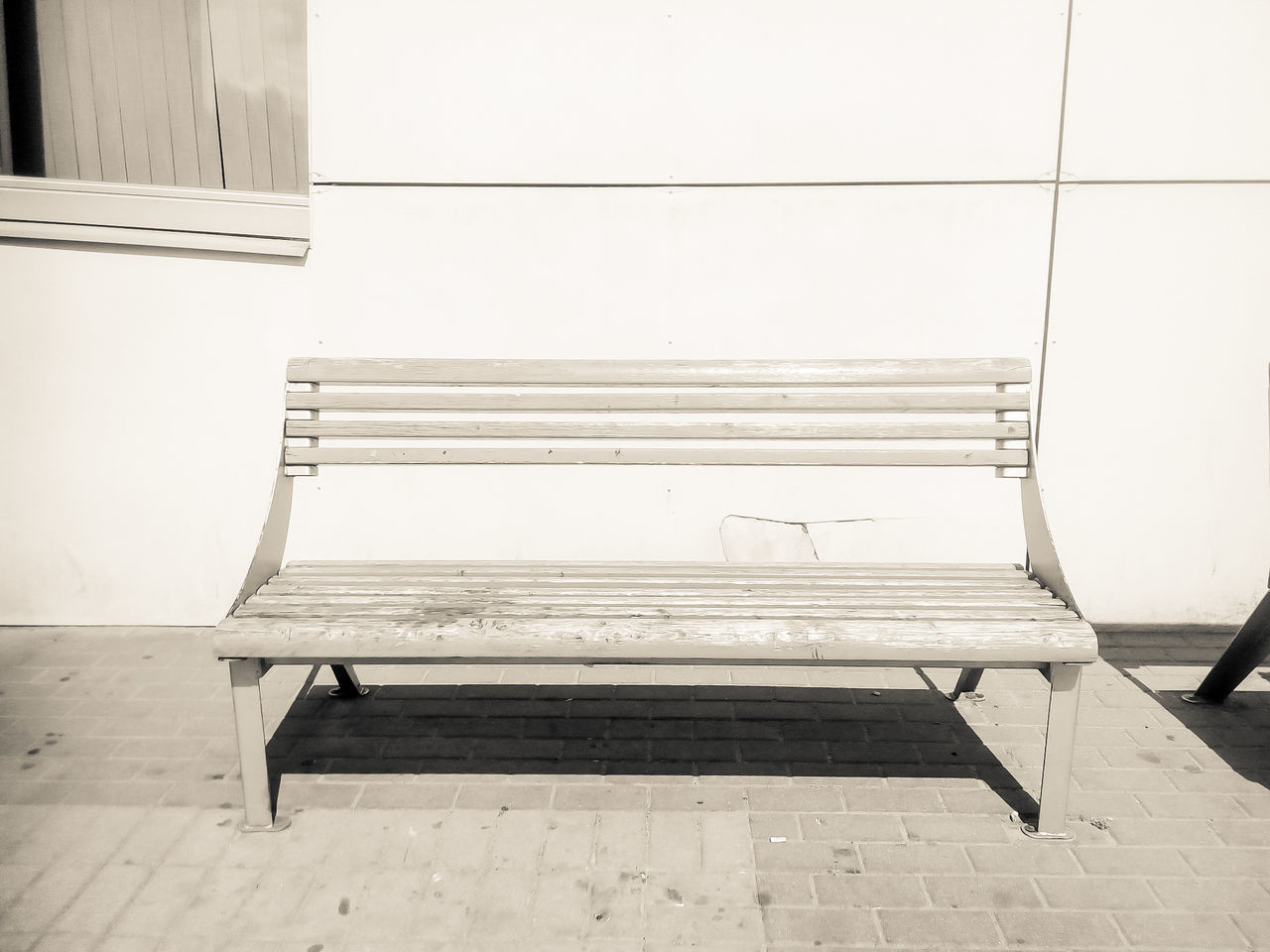 bench, empty, absence, no people, seat, day, architecture, outdoors