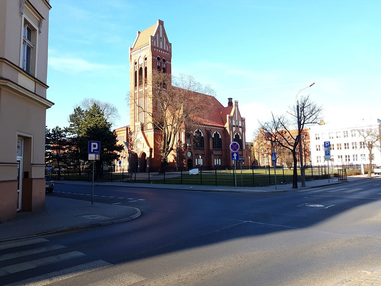 Bydgoszcz Poland Built Structure Architecture Building Exterior No People Outdoors Day Sky Religion Polandarchitecture Street Clock Church Clock Tower