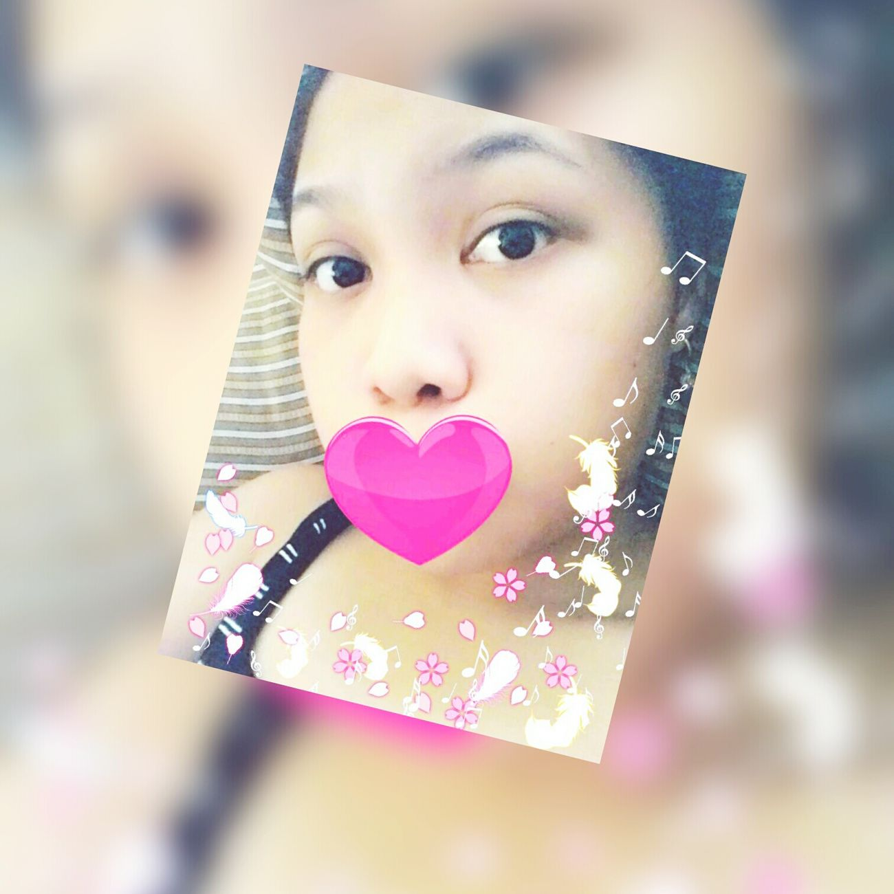 When you're trying to look kawaii, but you failed. So just overdo it with stickers and filters. CuteFailed KawaiiModeOn ♡Stickers Eyeeyecaptain Feathers Petals MusicalNotes HeartInLove