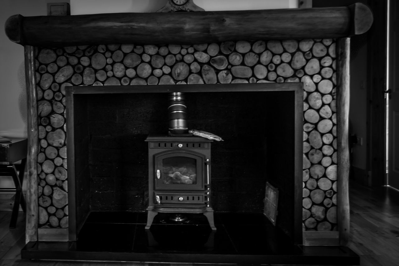 Lovely Fireplace, trying out Blackandwhite editing. Eye Em Scotland IPhoneography Achnagairn