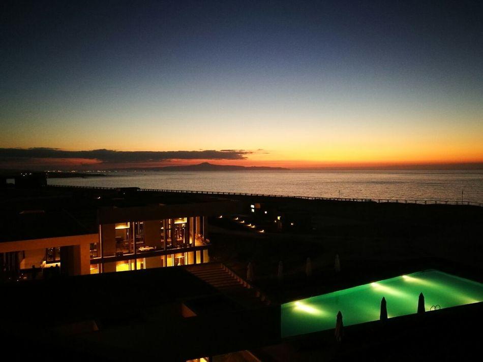 Hornitos Antofagasta Sunset Outdoors Illuminated Night Sea Water No People Nature