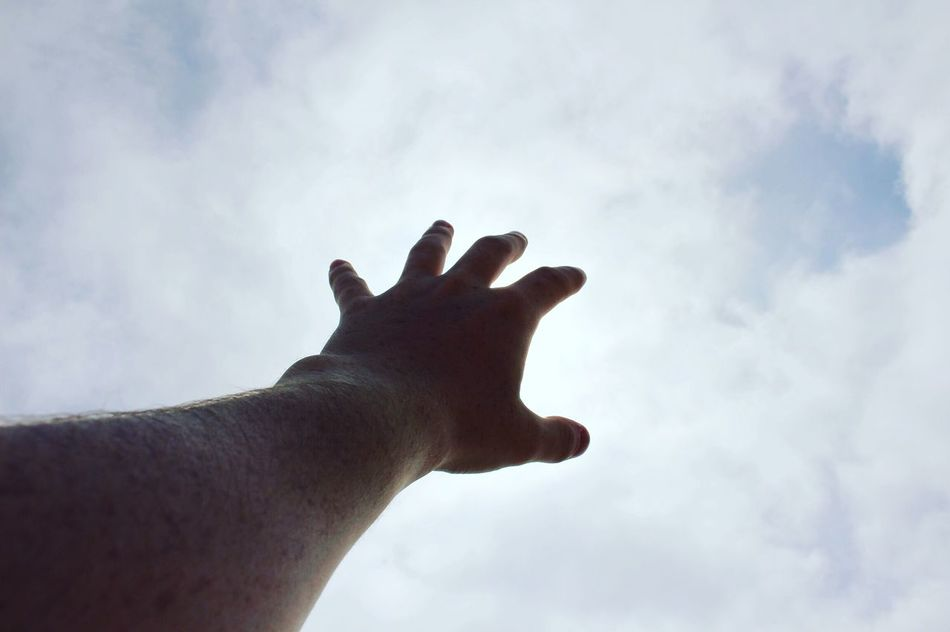 LUST FOR LIFE Human Hand Human Body Part Me Cloud - Sky Sky One Person Low Angle View Real People Outdoors Day Spirituality Lifestyles Close-up Nature Beauty In Nature Adult People The Secret Spaces Nature Shadow Legend Lust For Life