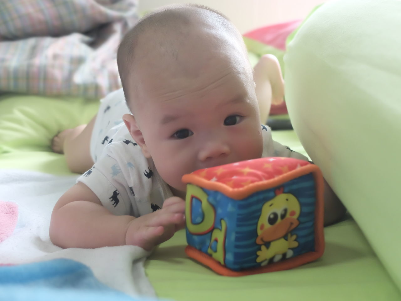 Babies Only Baby Babyhood Bed Bedroom Childhood Close-up Cute Day Home Interior Indoors  Innocence One Person Pacifier Real People Toy
