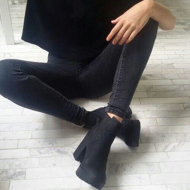 Black Ootd Matt Black Boots