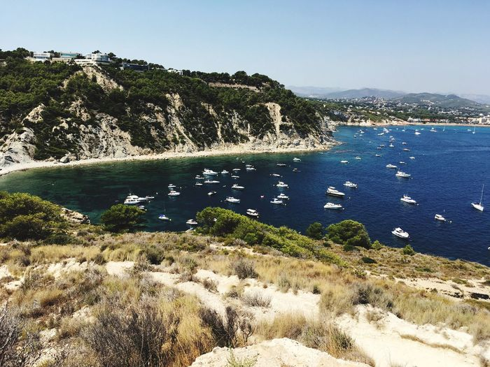 Costa Blanca Holiday Spanish Coast Visit Spain Boat Day Boats Water Nature Beauty In Nature Day Sea No People Outdoors Tranquil Scene Mountain Tranquility
