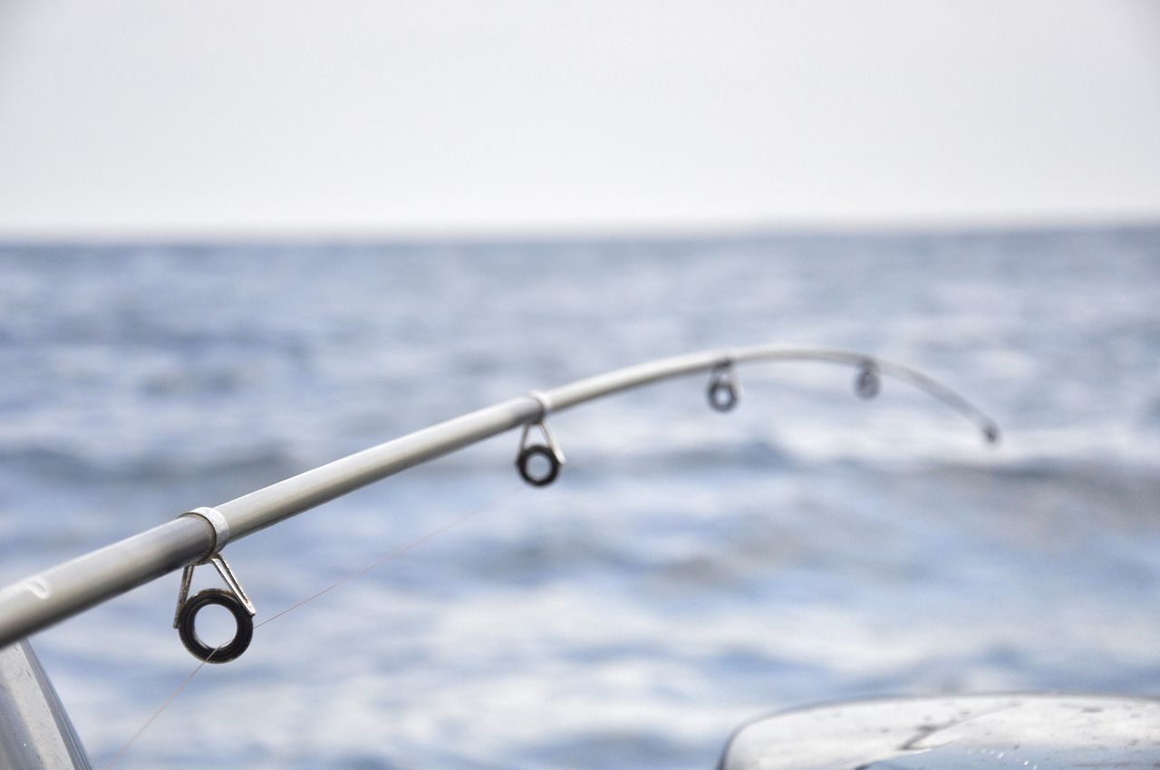 fishing friday Beauty In Nature Close-up Day EyeEmNewHere Fishing Fishing Time Fishingline Focus On Foreground Horizon Over Water Lines And Shapes Nature No People Outdoors Scenics Sea Sky TheWeekOnEyeEM Tranquil Scene Water