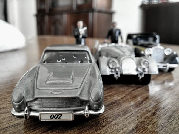 Interior Views Home Toys James Bond 007 Figurines  Sarajevo Cars Aston Martin Oldsmobile Vintage Retro Historic Iconic Art Focus Goldfinger Movie Toy