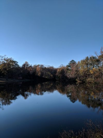 lake in the fall Water Reflection Lake Pond Fall Colorful Trees Reflection Water Sky Scenics Lake No People Blue
