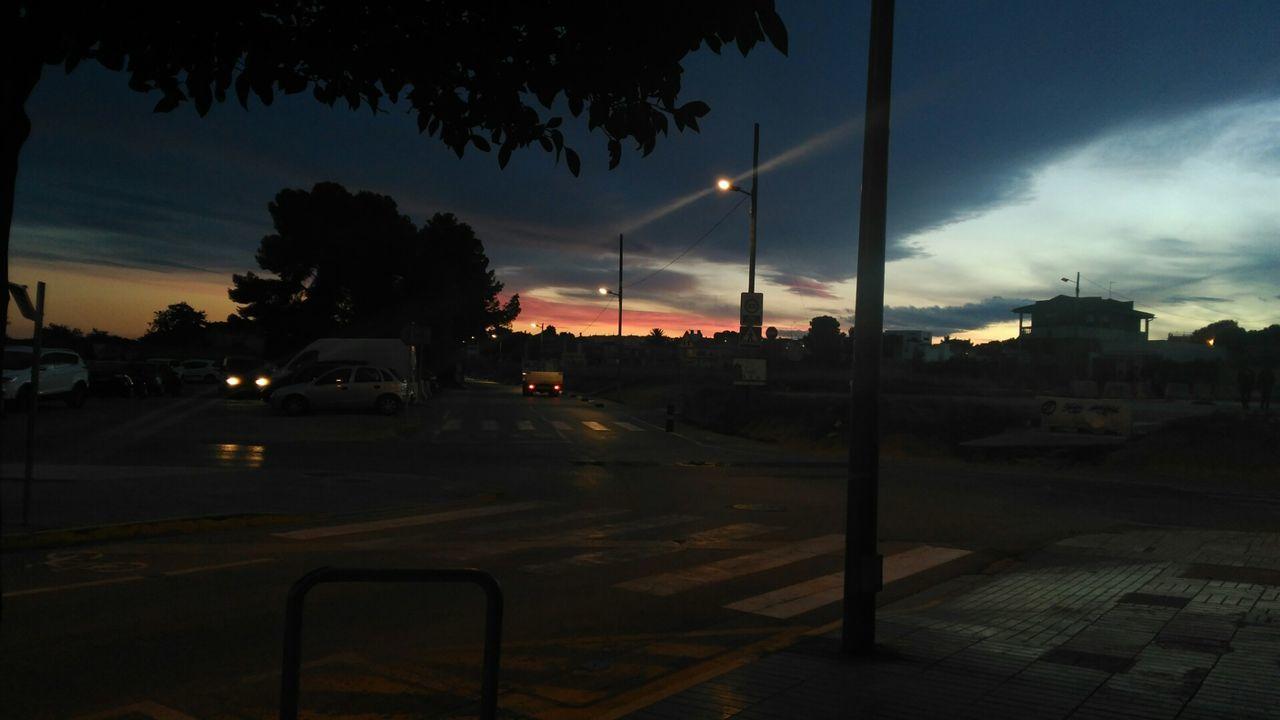 Hace falta toda una vida para aprender a vivir.Night Transportation Illuminated Car City Outdoors Sky No People