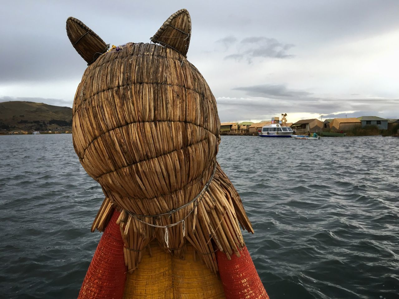 Traveling on a straw boat on Lake Titicaca IPhoneography Travel Traveling Peru Outdoors On A Holiday Boat Lake Puno