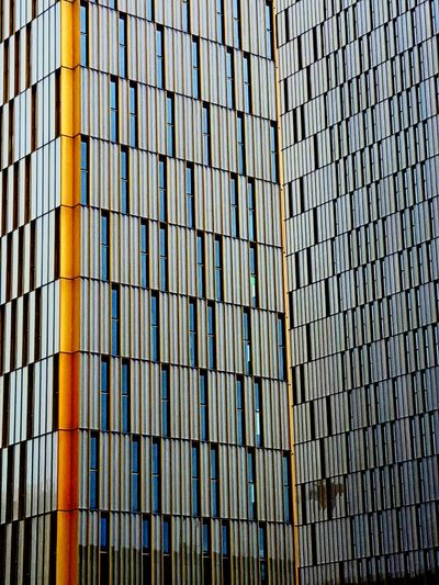 Built Structure Pattern Building Exterior Architecture Repetition Outdoors No People City Luxembourgcity Luxembourg Gold Dominiqueperrault High Rise Building The Graphic City