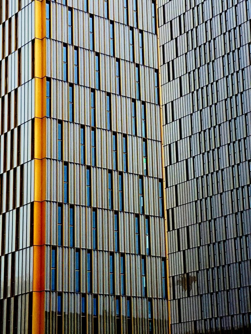 Built Structure Pattern Building Exterior Architecture Repetition Outdoors No People City Luxembourgcity Luxembourg Gold Dominiqueperrault High Rise Building