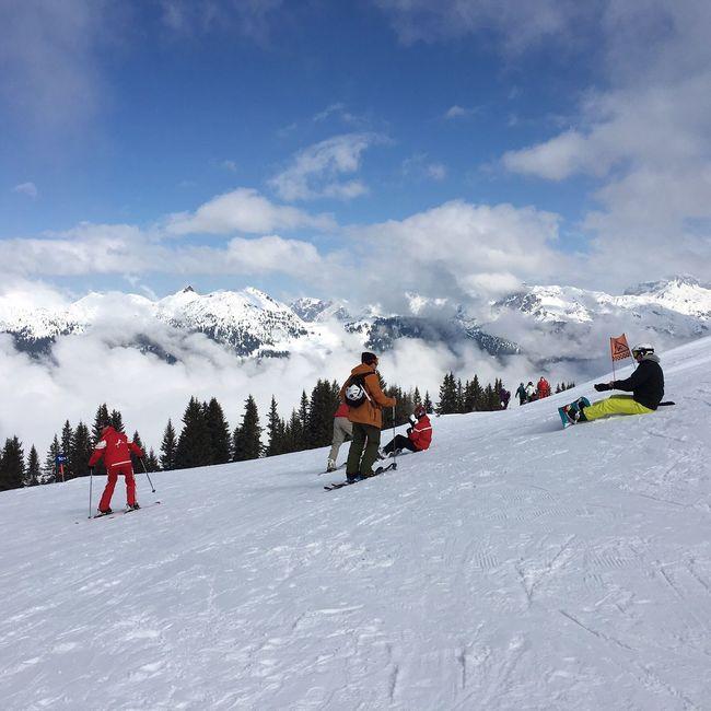 Skiing Snow ❄ Mountain View Schuns Montafon Autria Mountains Blue Sky